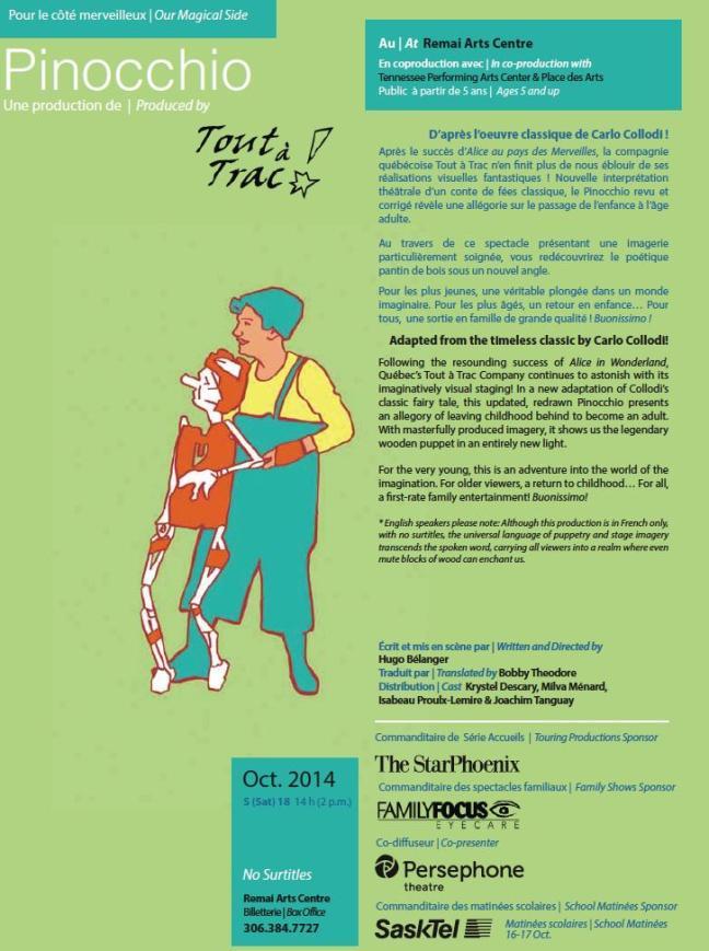 Affiche - La Troupe du Jour présente Pinocchio
