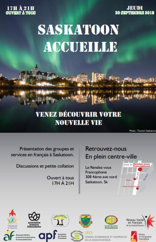Affiche - Lancement de Saskatoon accueille