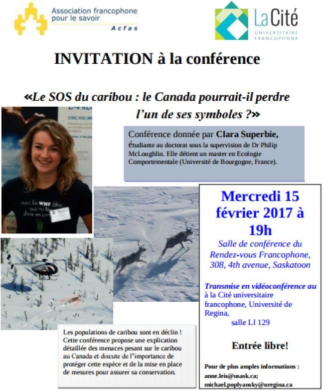 Affiche - Le SOS du caribou