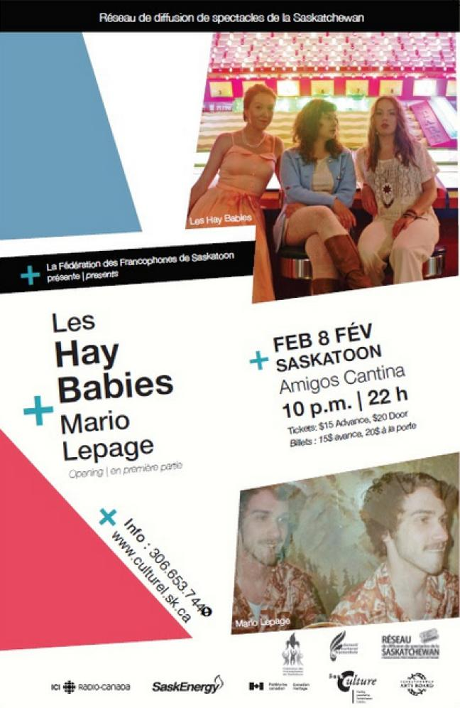 Affiche - Les Hay Babies et Mario Lepage à Saskatoon