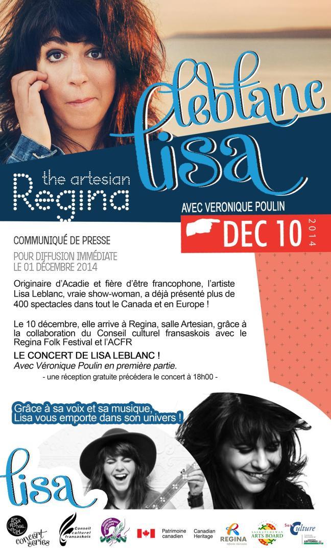 Affiche - Lisa Leblanc en concert à Regina! (HD)