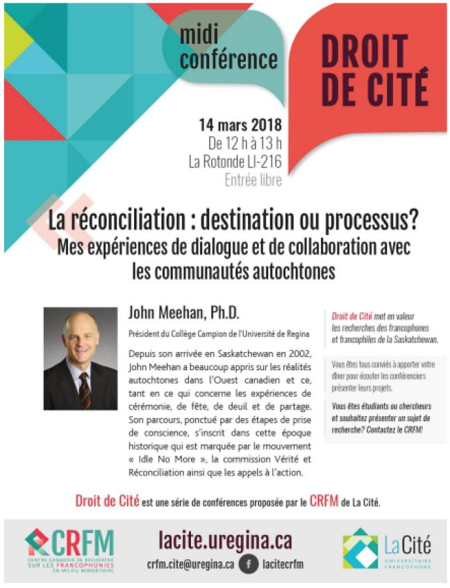 Affiche - Midi-conférence Droit de Cité