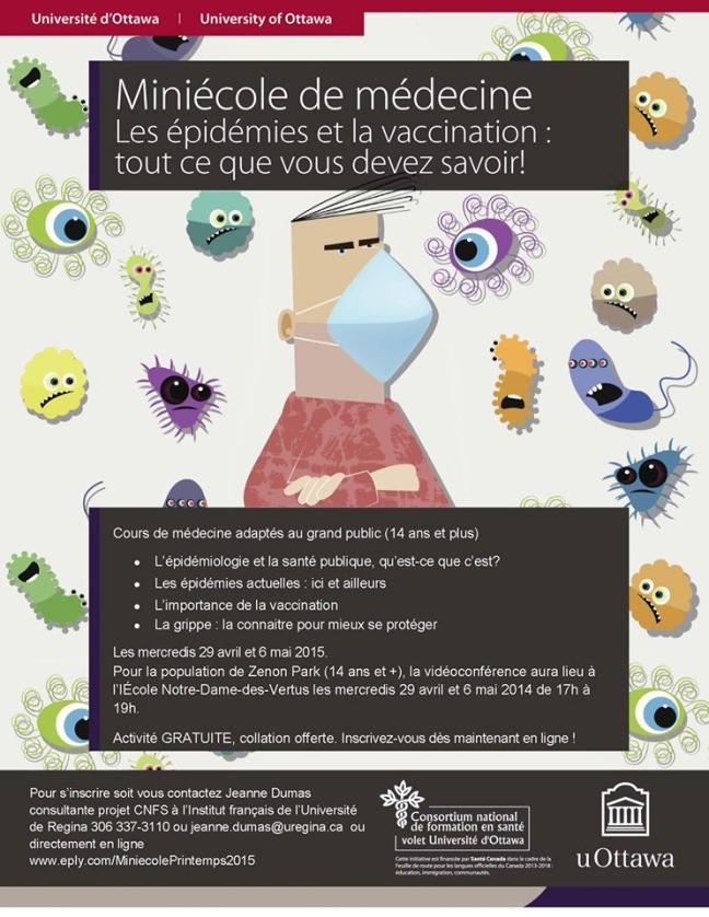 Affiche - Miniécole de médecine à Zenon Park