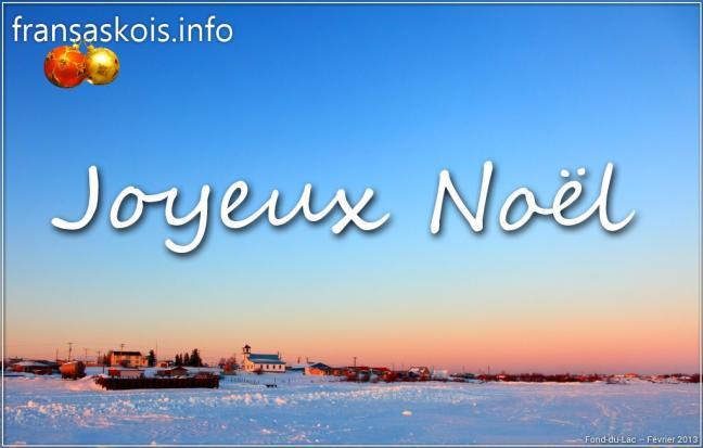 Affiche - Noël 2013 - Fond-du-Lac - fransaskois.info