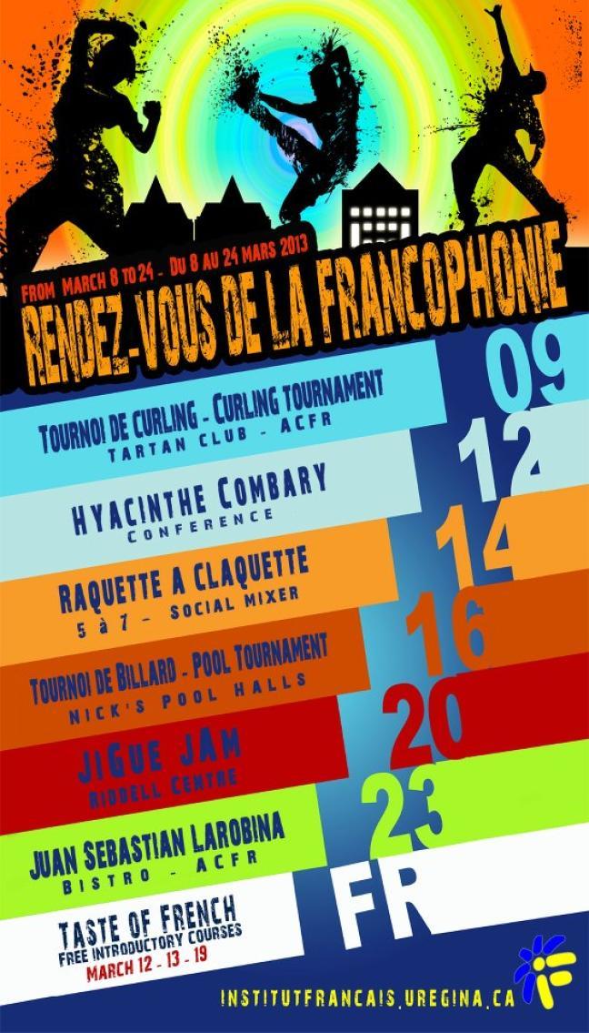 Affiche - Programmation de l'IF : Rendez-Vous de la Francophonie