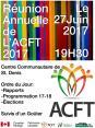 Affiche - Réunion annuelle de L'ACFT