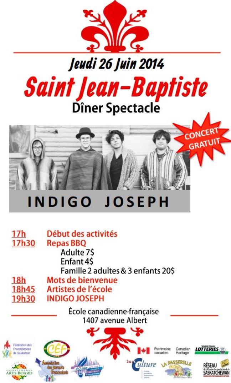 Affiche - Saint-Jean Baptiste à Saskatoon