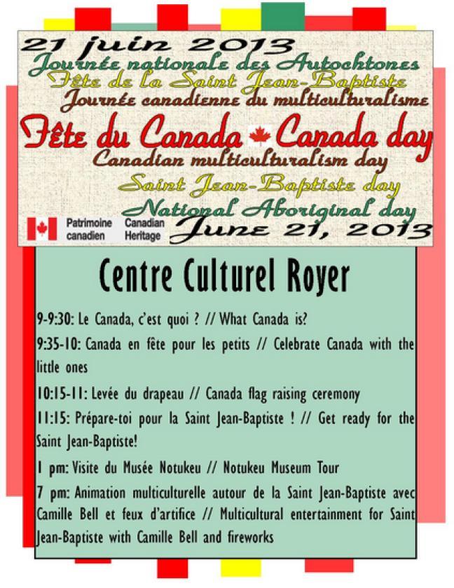 Affiche - Saint-Jean et fête du Canada à Ponteix