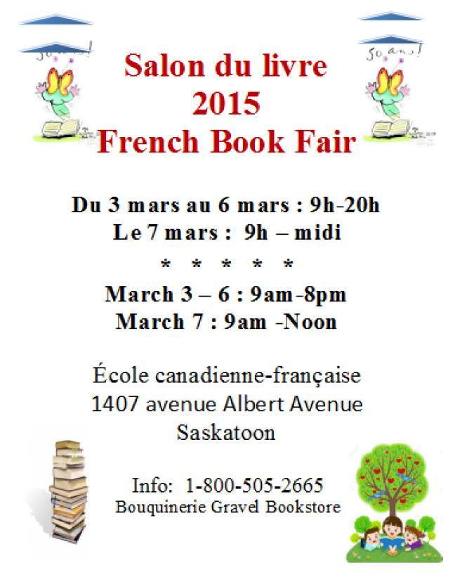 Affiche - Salon du livre à Saskatoon 2015