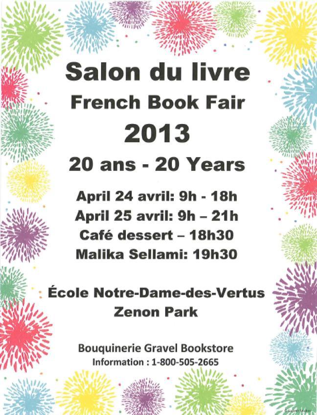Affiche - Salon du livre à Zénon Park
