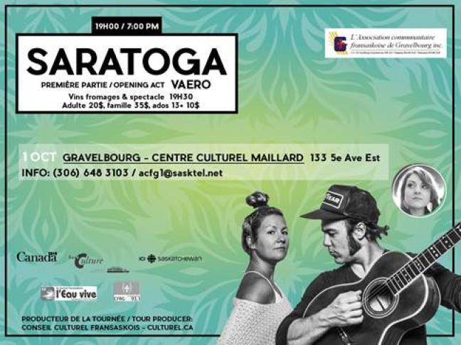 Affiche - Saratoga  à Gravelbourg