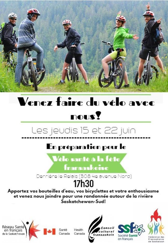 Affiche - Sessions préparatoires pour l'activité Vélo santé 2017