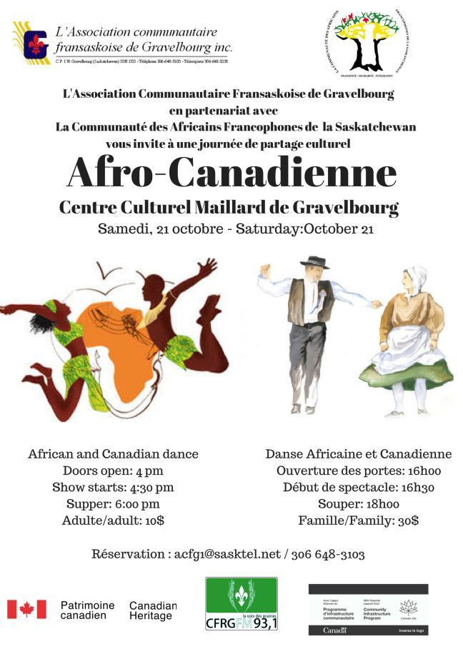Affiche - Soirée Afro-Canadienne
