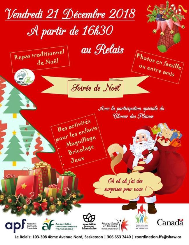 Affiche - Soirée de Noël à Saskatoon