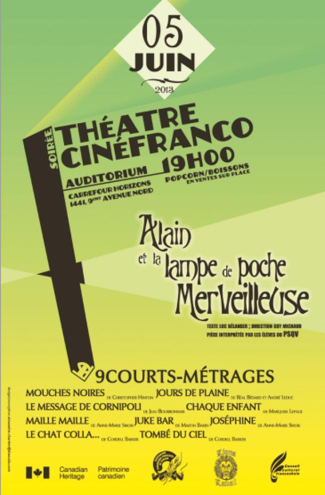 Affiche - Soirée théâtre et cinéma franco