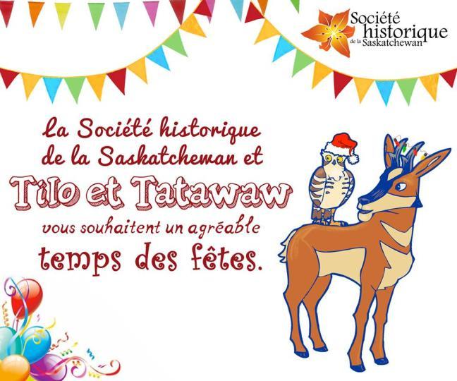 Affiche - Souhaits des fêtes de la Société historique