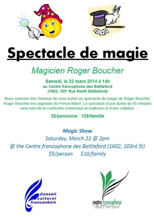 Affiche - Spectacle de magie de Roger Boucher