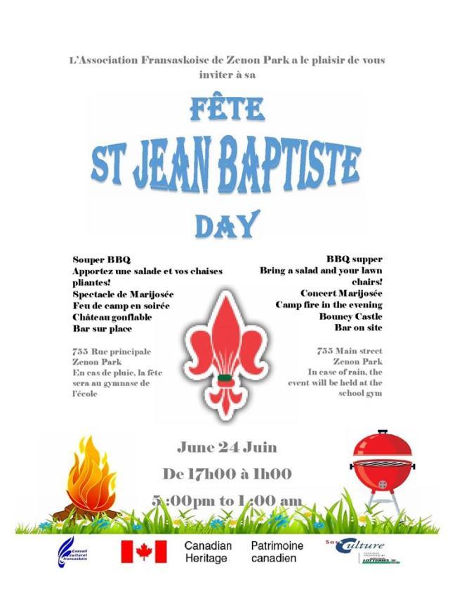 Affiche - St Jean Baptiste à l'AFZP