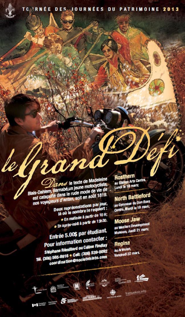 Affiche - Tournée des Journées du patrimoine 2013