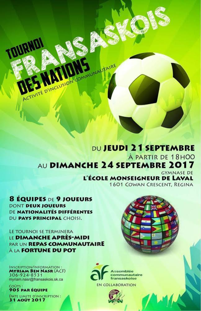 Affiche - Tournois fransaskois de soccer des nations