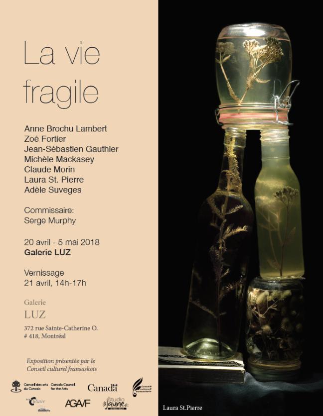 Affiche - Un beau succès pour le vernissage de l'exposition [i La vie fragile] présentée à Montréal