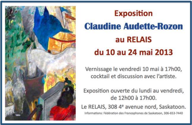 Affiche - Vernissage de l'exposition de Claudine Audette-Rozon