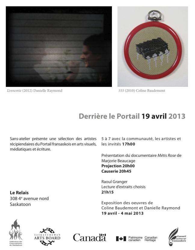 Affiche - Vernissage de l'exposition 'Derrière le portail'