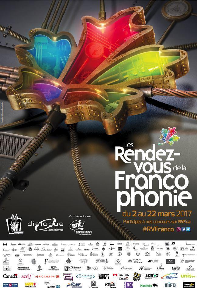Affiche - Vers les trois dimensions des Rendez-vous de la Francophonie 2017