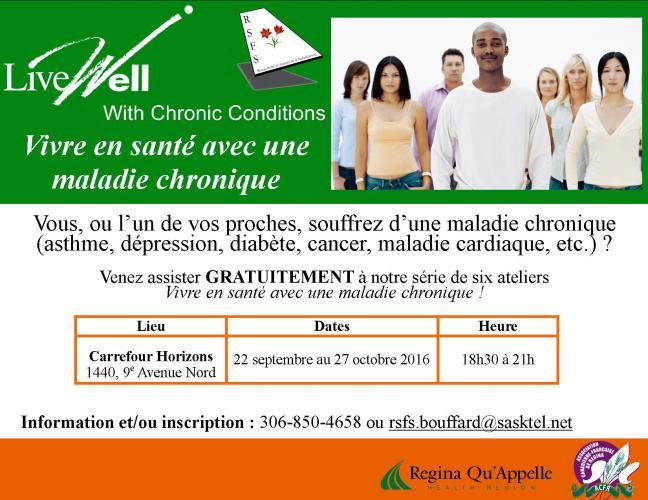 Affiche - Vivre en santé avec une maladie chronique