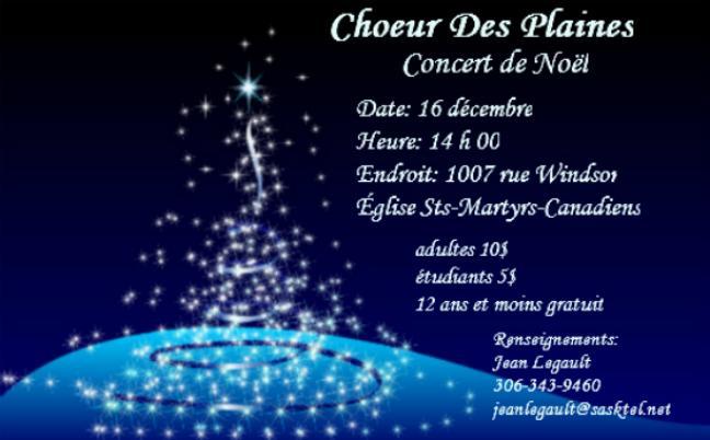 Afficher - Choeur des Plaines - Concert de Noël 2012