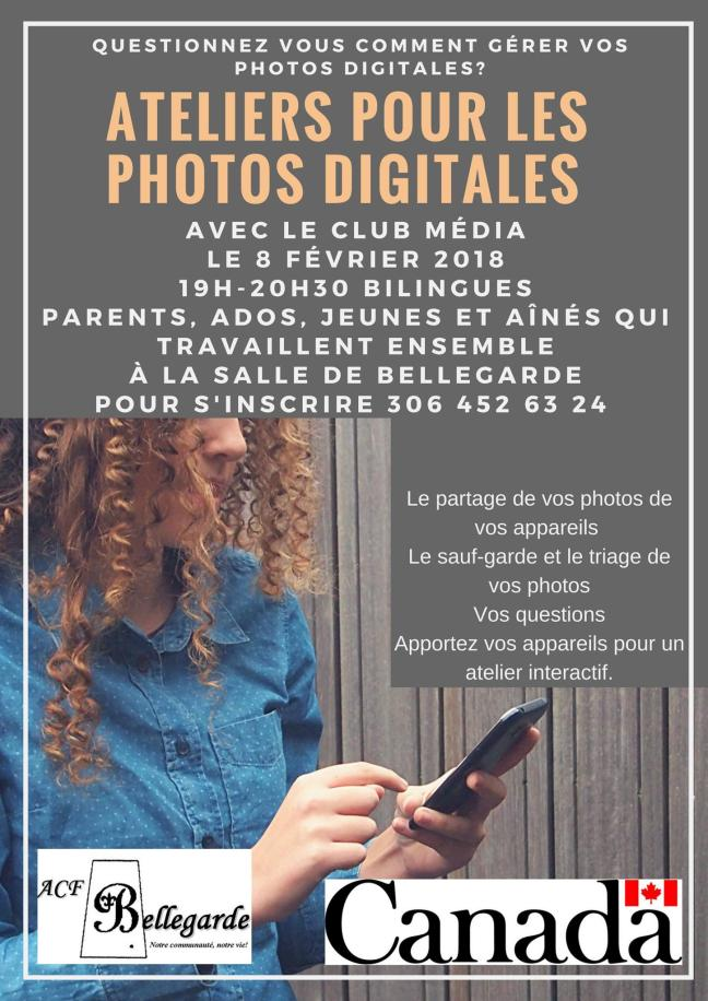Affiche - Ateliers pour les photos digitales