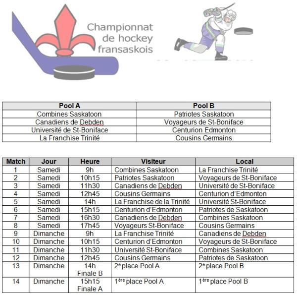 Image - horaire du tournois de hockey fransaskois 2013